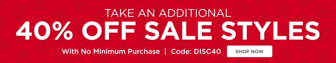 40% Off Sale Styles - Use code DISC40