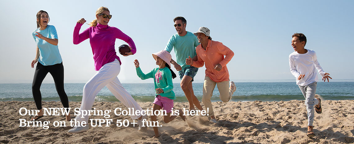 Jump into Spring with NEW UPF 50+ styles, colors and prints!
