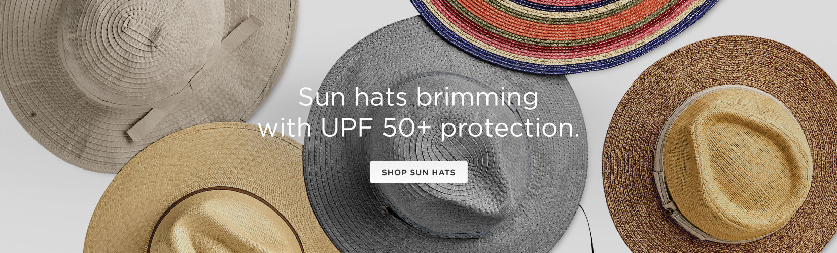 Sun hats brimming with UPF 50+ protection. Shop Sun Hats