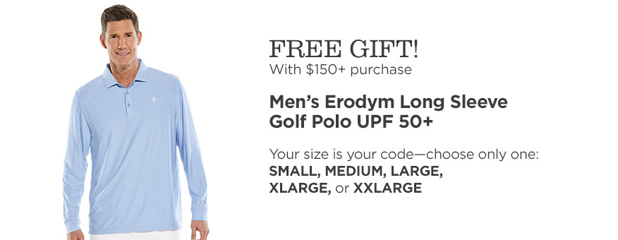FREE GIFT! Men's Erodym Golf Polo & Free Standard Shipping w/$150+ purchase