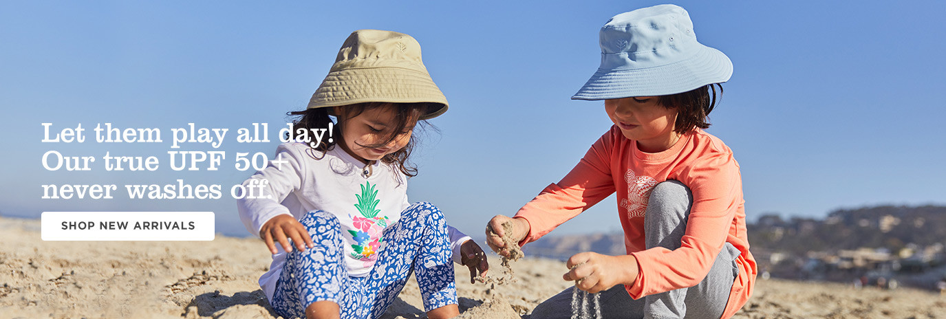 Let them play all day! Our true UPF 50+ never washes off. Shop Kids & Baby New Arrivals