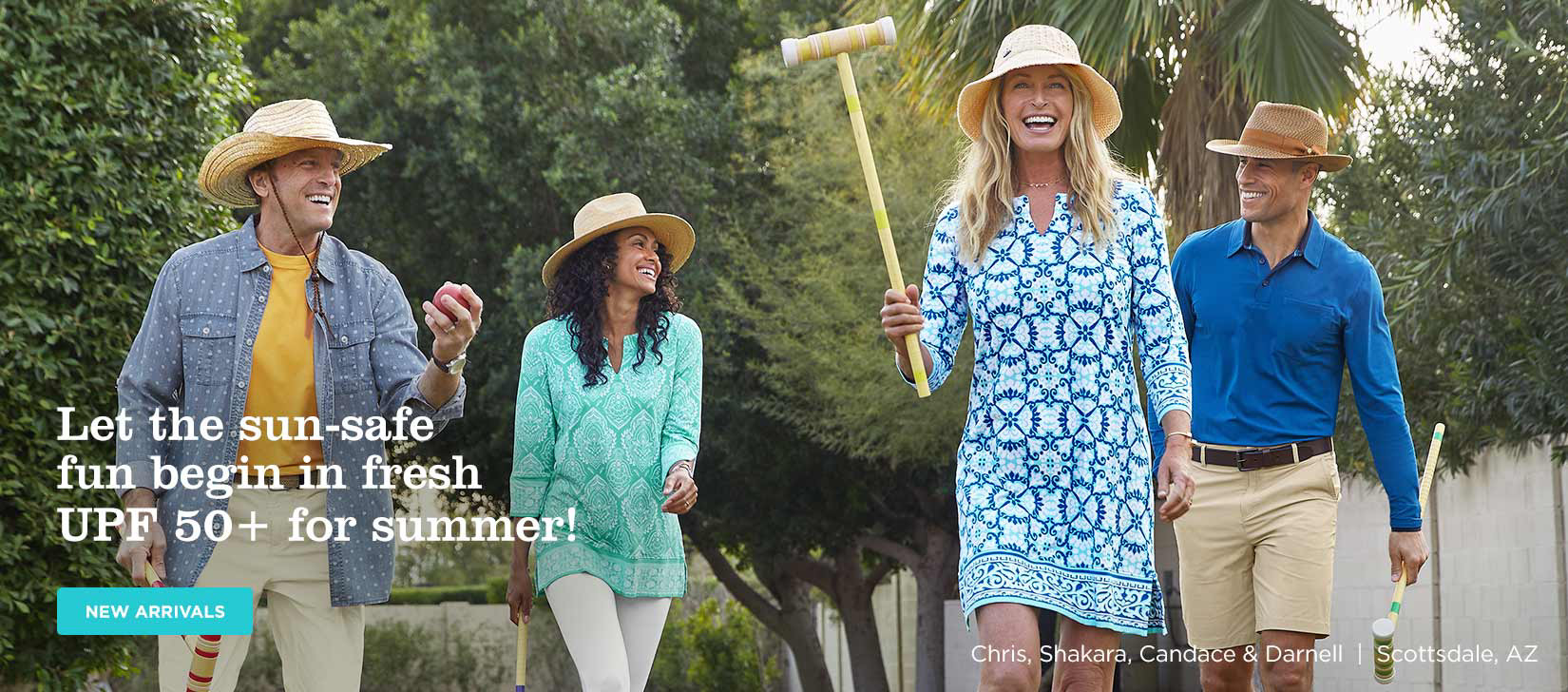 Let the sun safe fun begin in fresh UPF 50+ for summer.