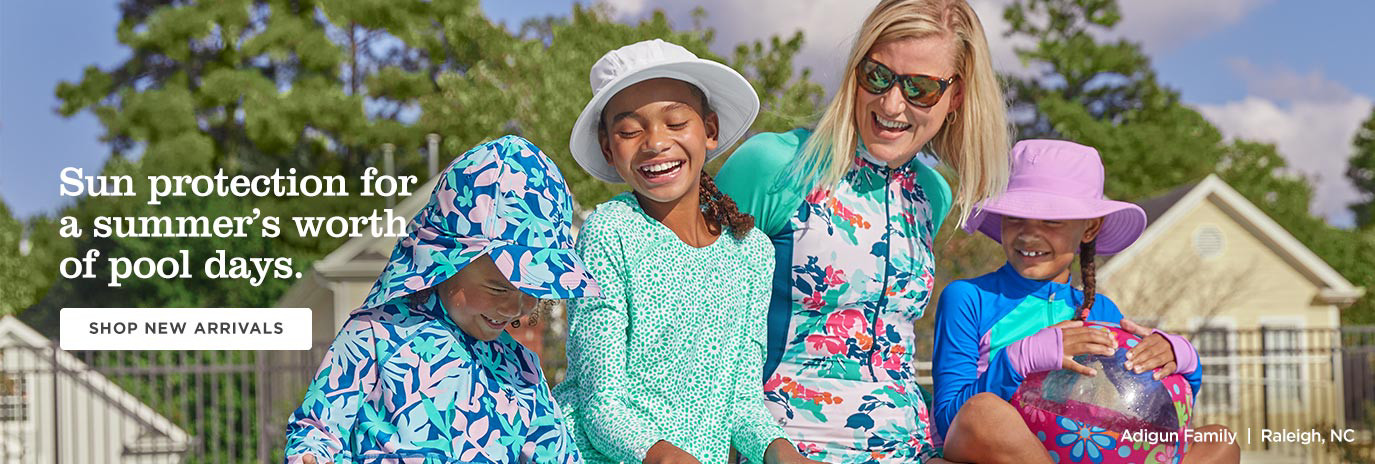 Sun protection for a summer's worth of pool days.  Shop Kids & Baby New Arrivals