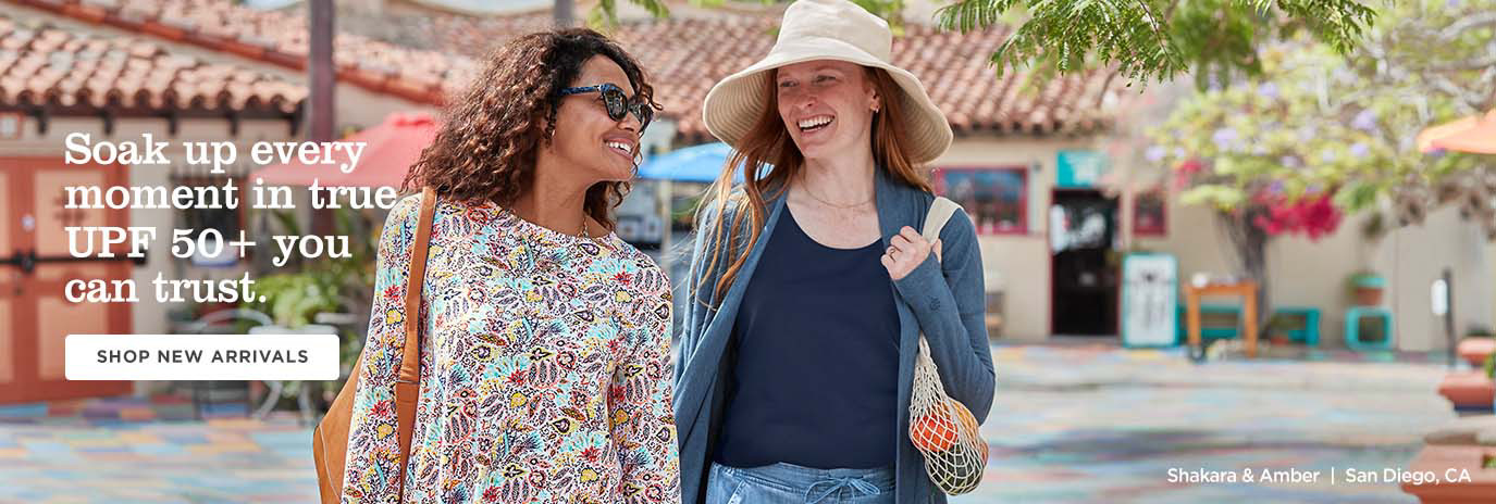 Soak up every moment in true UPF 50+ you can trust - Shop Women - New Arrivals