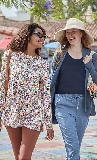 Womens Relaxing - Women walking with shopping bags
