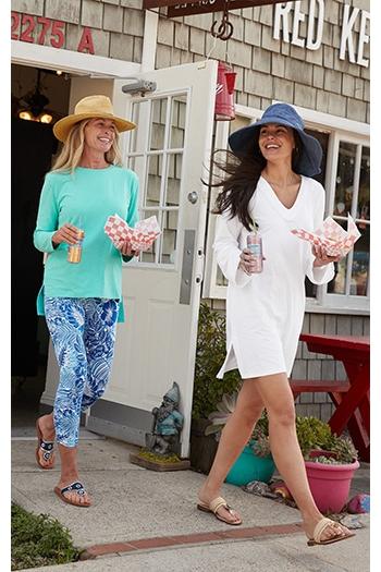 Womens Travel - 2 women walking outside