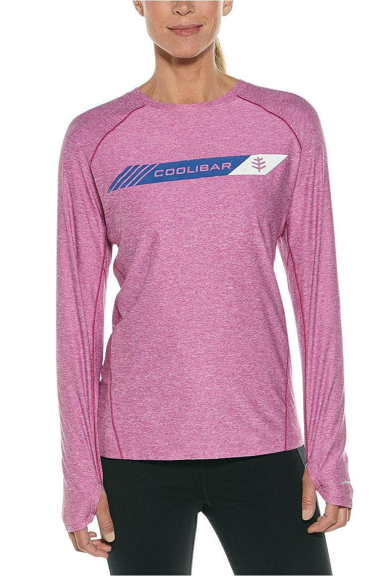 Women's Long Sleeve Fitness Graphic Tee UPF 50+