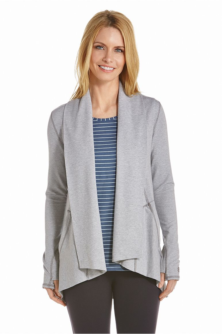 Women's Open Front Cardigan UPF 50+