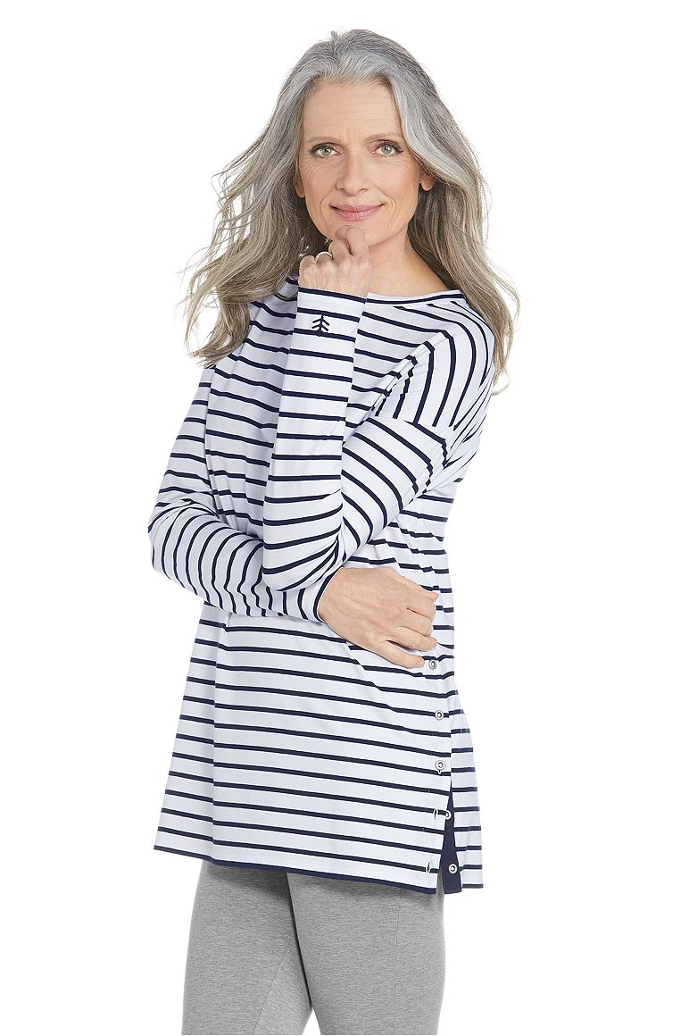 Women's Side Button Tunic Top UPF 50+