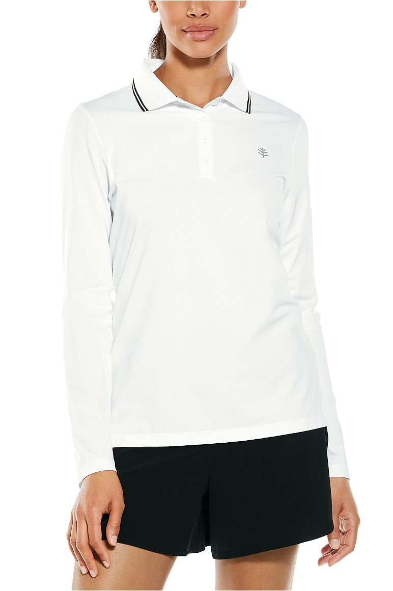 Women's Long Sleeve Birdie Golf Polo UPF 50+