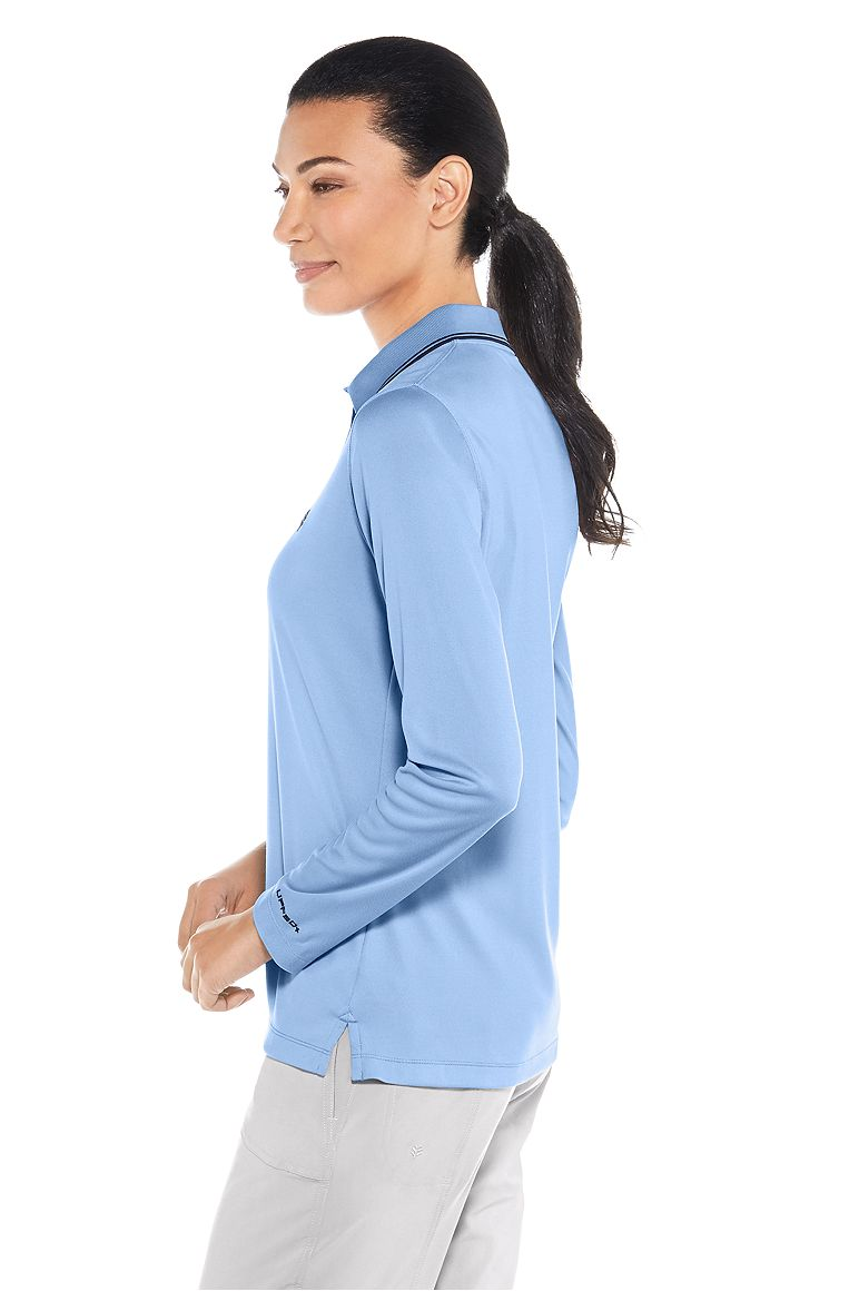 Women's Long Sleeve Golf Polo UPF 50+