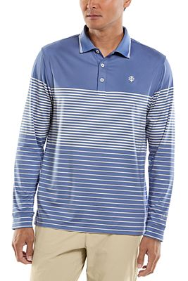 Men's Erodym Long Sleeve Golf Polo UPF 50+