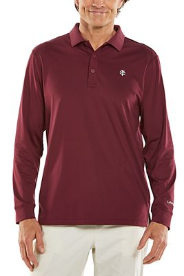 Men's Erodym Long Sleeve Golf Polo UPF 50+