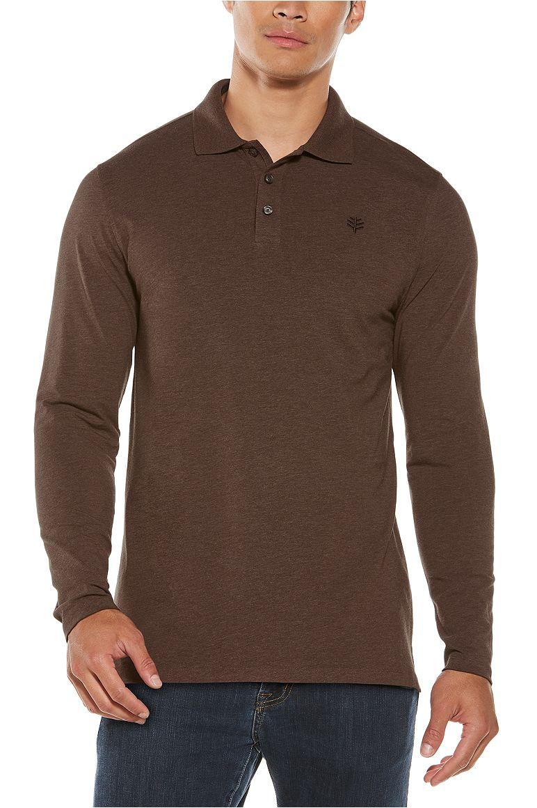 Men's Long Sleeve Weekend Polo Shirt UPF 50+