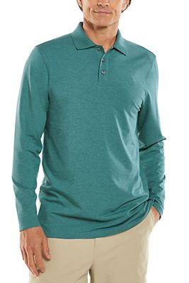 Men's Coppitt Long Sleeve Weekend Polo UPF 50+