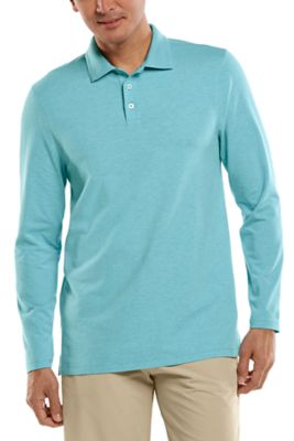 Men's Coppitt Long Sleeve Weekend Polo UPF 50+