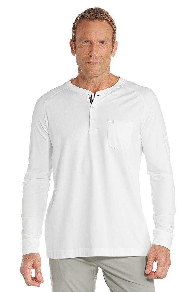 Men's Long Sleeve Henley UPF 50+