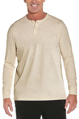 Men's Mojave Long Sleeve Henley UPF 50+