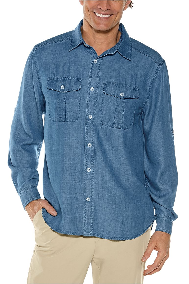 Men's Carson Chambray Shirt UPF 50+