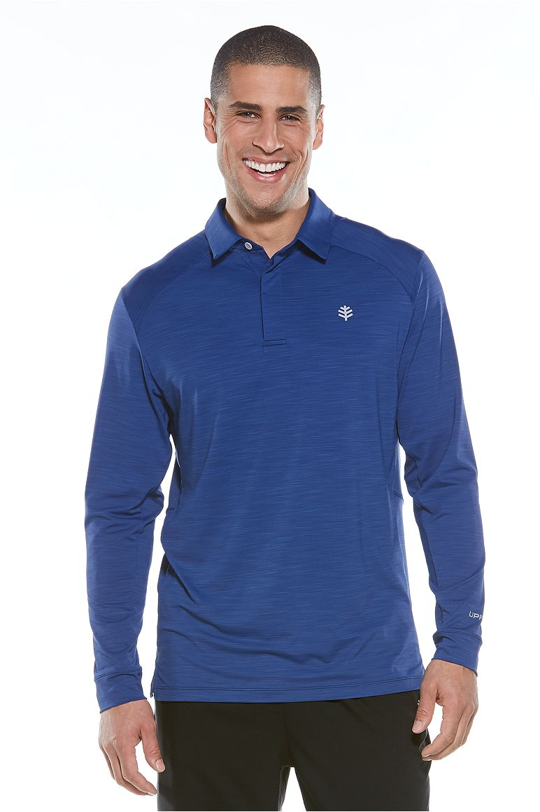 Men's Long Sleeve Performance Polo UPF 50+