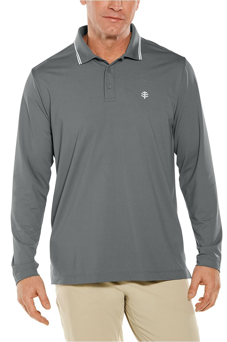 Men's Long Sleeve Links Golf Polo UPF 50+