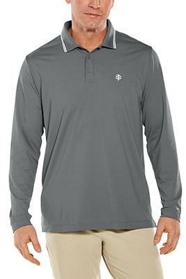 Men's Links Long Sleeve Golf Polo UPF 50+