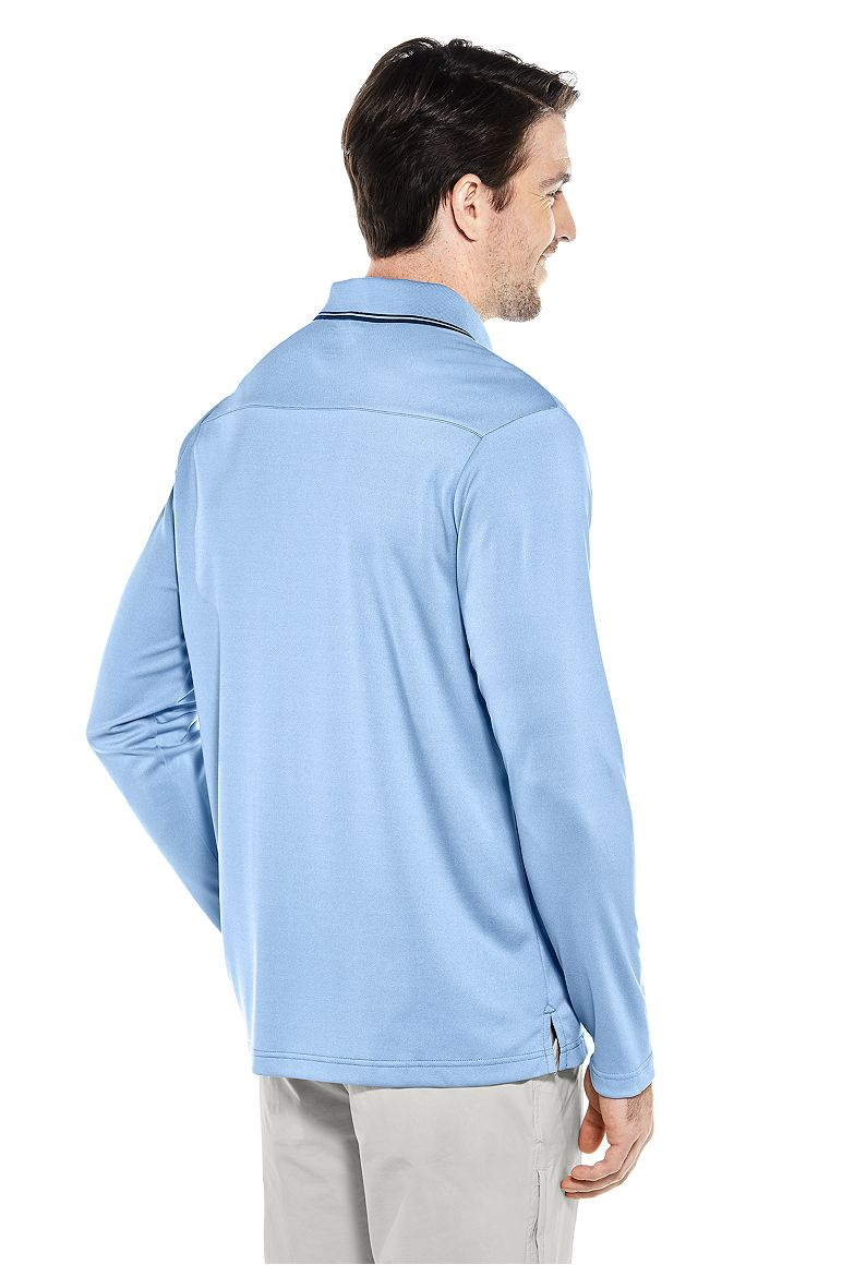 Men's Long Sleeve Golf Polo UPF 50+