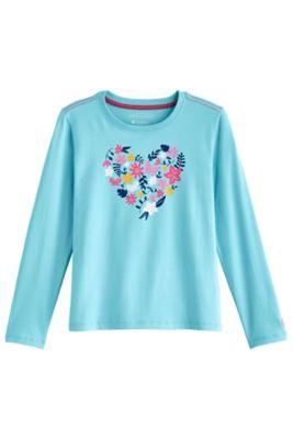 Girl's Coco Plum Everyday Long Sleeve Graphic T-Shirt UPF 50+