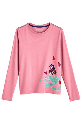 Girl's Coco Plum Everyday Long Sleeve Graphic T-Shirt UPF 50+