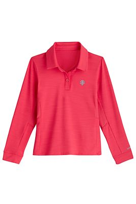 Girl's Long Sleeve Par Polo UPF 50+