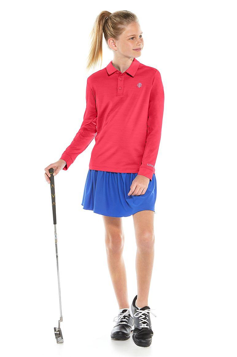 Girl's Long Sleeve Par Polo UPF 50+