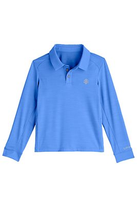 Boy's Long Sleeve Performance Polo UPF 50+