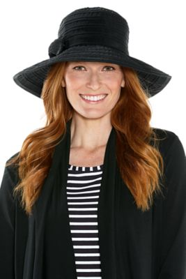 COMPACT IN A SNAP!™ Ingrid Ribbon Hat UPF 50+
