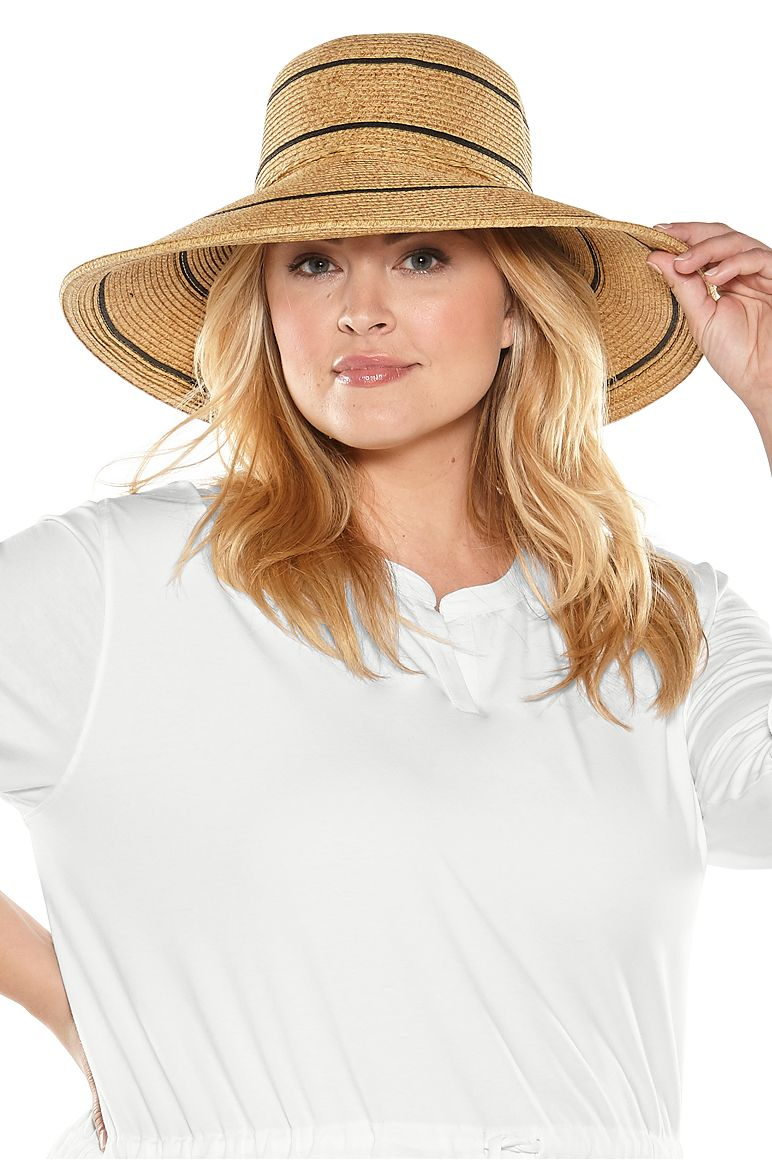 Women's Wide Brim Beach Hat UPF 50+