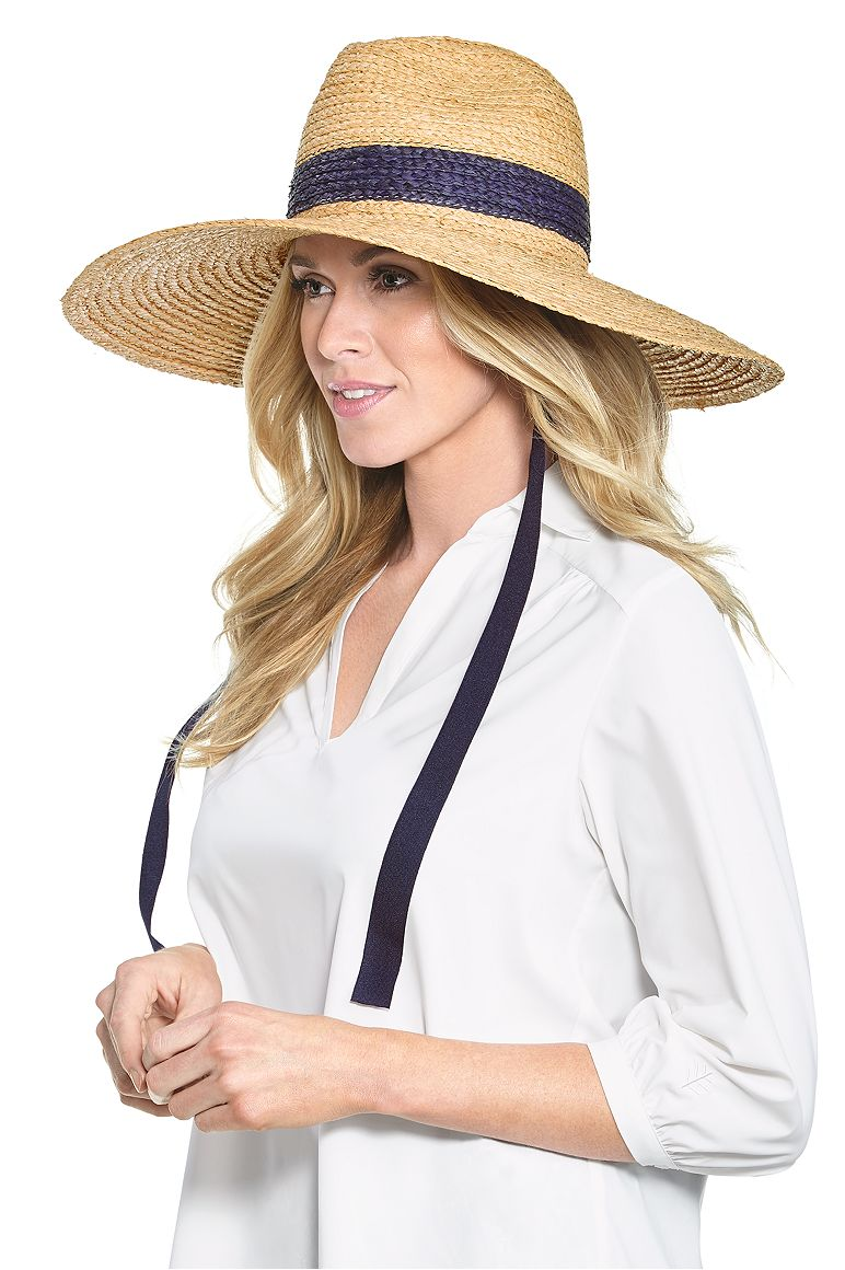 Women's Raffia Life Guard Hat UPF 50+