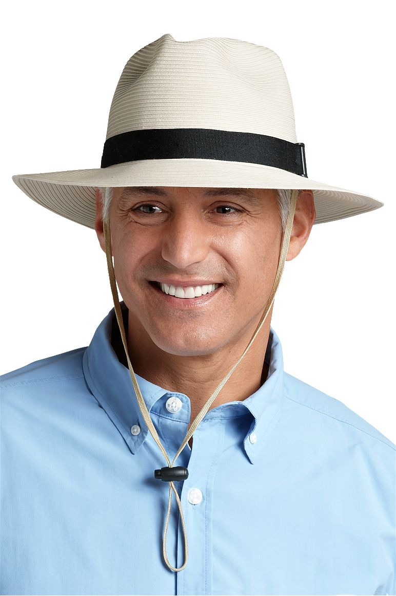 Men's SmartStraw Packable Fedora Hat UPF 50+