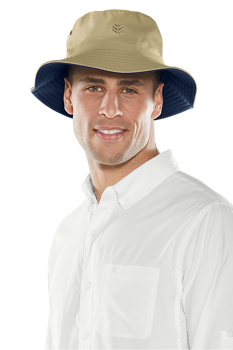 1fce38c0604c82 Men's Reversible Bucket Hat UPF 50+: Sun Protective Clothing - Coolibar :  Sun Protective Clothing - Coolibar