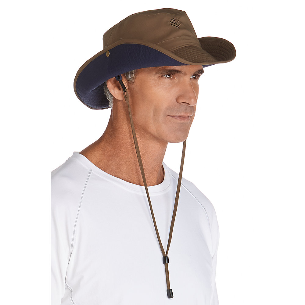 596a339eedc Coolibar UPF 50+ Men s Featherweight Bucket Hat