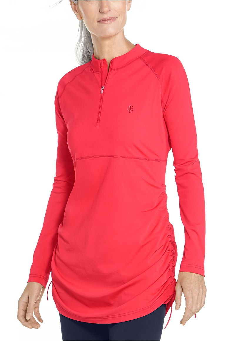 Women's Ruche Swim Shirt UPF 50+