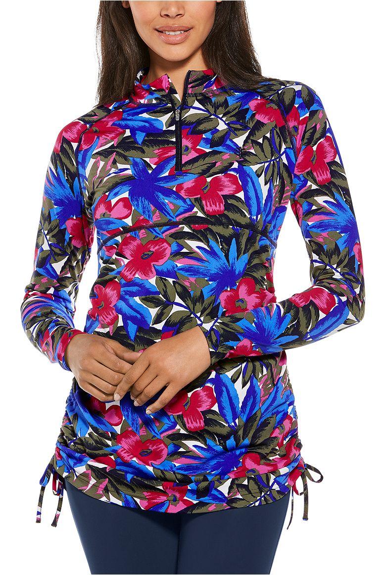 Women's Ruche Swim Shirt UPF 50+