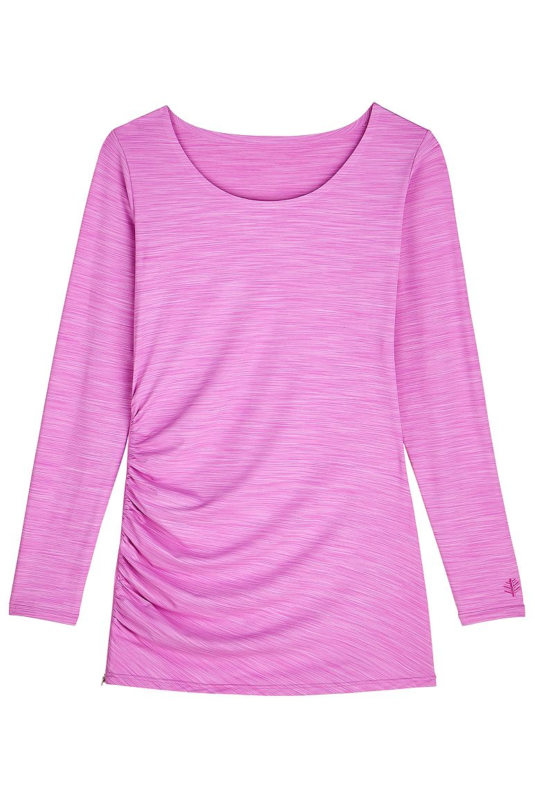 Women's Side-Zip Swim Shirt UPF 50+