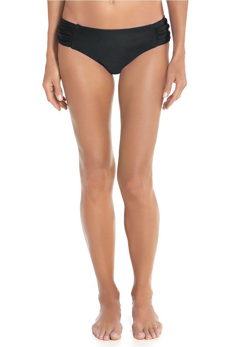 Women's Ruche Swim Bikini Bottom UPF 50+