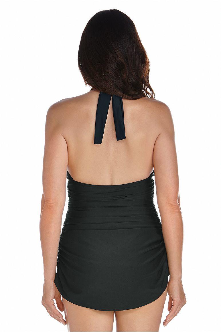 Women's Ruche Halter Swimsuit