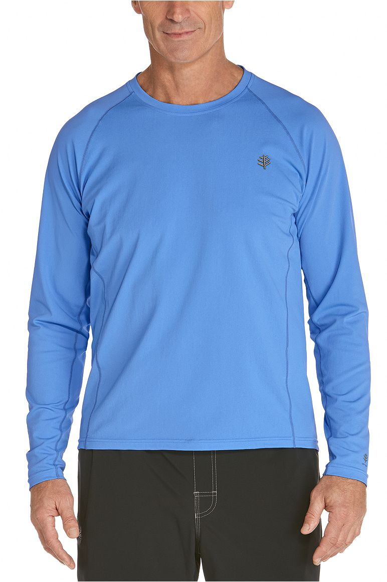 Men's Long Sleeve Swim Shirt UPF 50+