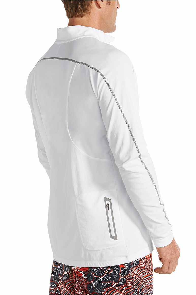 Men's Zip Rash Guard UPF 50+