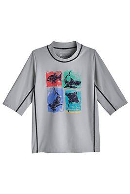 Boy's Sandshark Short Sleeve Surf Shirt UPF 50+