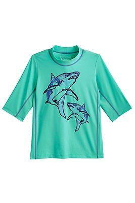 Kid's Sandshark Short Sleeve Surf Shirt UPF 50+