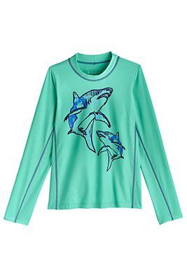 Kid's Sandshark Long Sleeve Surf Shirt UPF 50+