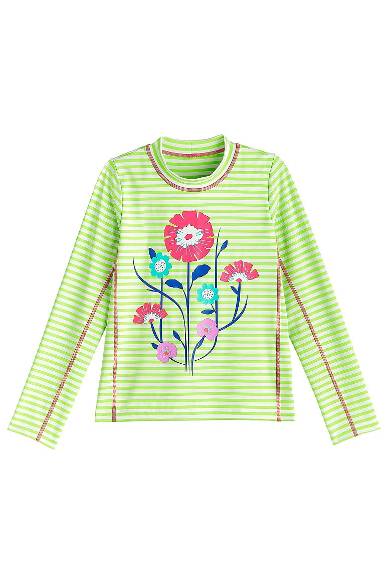 Coolibar UPF 50 Sun Protective Girls Ruche Swim Shirt