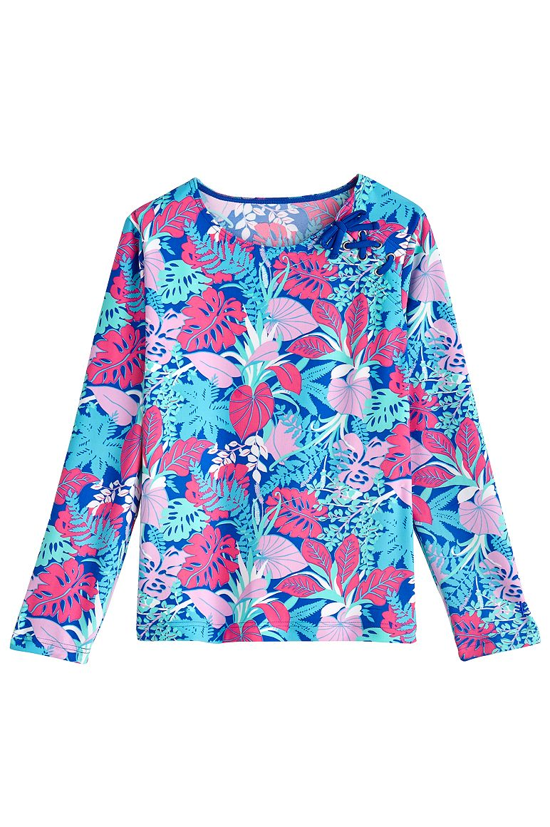 Girl's Lace-Up Rash Guard UPF 50+